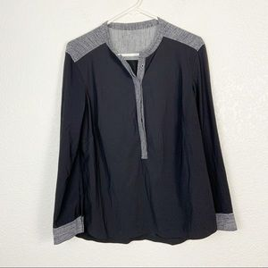 Lululemon Black Button Up Blouse